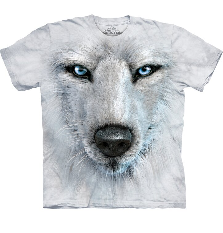 White Wolf Face Adult