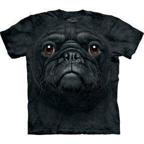 Black Pug Dog Face