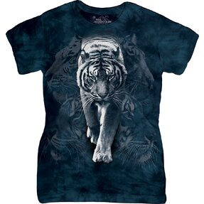 White Tiger Stalk Zoo T Shirt