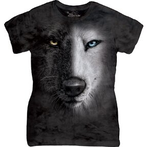 Tricou damă  Black White Face Wolves