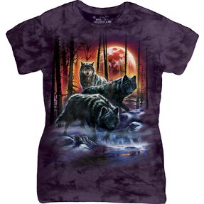 Fire Ice Wolves Wolves T Shirt