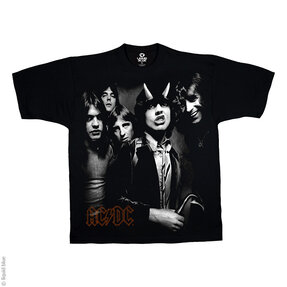 Tricou negru muzical AC/DC  Highway Group